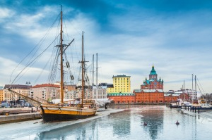 A view of the old town of Helsinki.