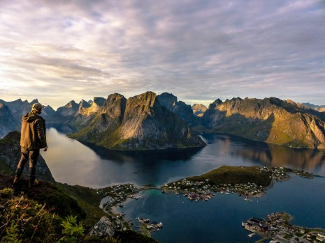 I took this shot whilst climbing the famous summit of Reinbringing In Norway's Lofoten Islands and this photo for me ...