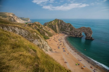 DURDLE DOOR in Dorset England on  a beautiful summer day...perfection.