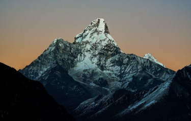"""Mother's Embrace"" Photo of Ama Dablam taken from the village of Mongla, Nepal.  Mongla sits on a narrow ridge at a ..."