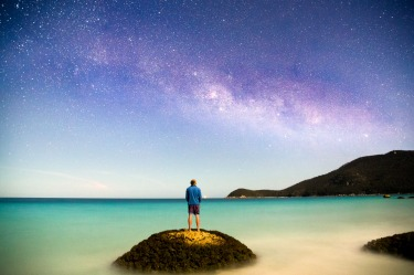 Exploring Wilsons prom at night and star gazing- with turquoise blue waters and a clear sky, hiking through the national ...