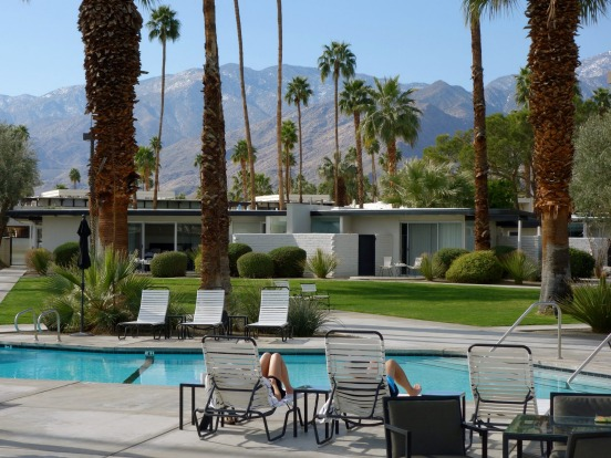 Chill by the pool in Palm Springs, California, in between films at Shortfest.