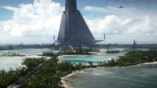 What Laamu Atoll looks like in Rogue One ... before the destruction begins.