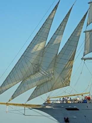 Foresails on Star Clippers' ship Star Flyer.