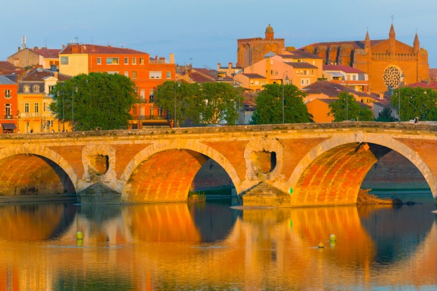 View of Toulouse in a sammer evening.