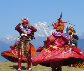 We were lucky enough to be crossing the Dochu La pass in Bhutan on the day of the Druk Wangyel festival, with ...