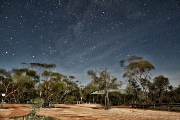 Night time carpark at Wave Rock Hyden WA . I wanted to take a night time shot of Wave Rock with some stars in the ...