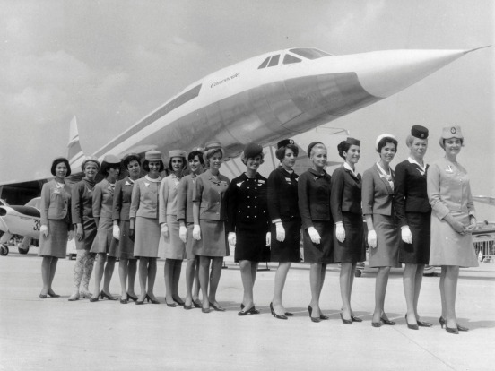 Flight attendants from the various airlines that flew the Concorde.