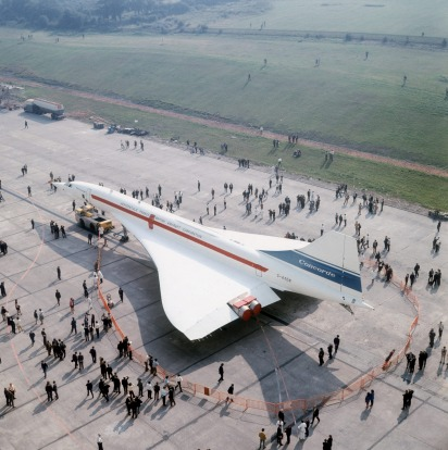 The second Concorde built goes on display at the British Aircraft Corporation's airfield at Filton, Bristol.
