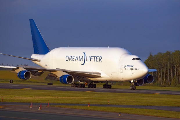 Boeing has four of the large transport aircraft.