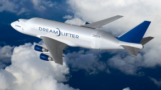 Boeing's own oddly-shaped cargo plane, the Dreamlifter.