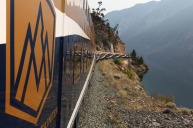 On the rails, Rocky Mountaineer.
