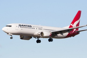 The Qantas 737 does not offer lie-flat seats in business class, but they're comfortable enough for the daytime flight.