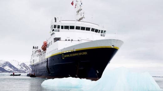 The National Geographic Explorer can accommodate 148 passengers on its Land of the Ice Bear tour.