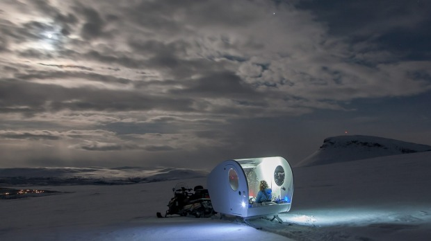 Be one of the first to sleep under the Northern lights in a Finnish bubble sled.