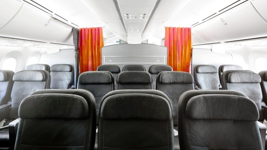 There are just 21 seats in three rows in the business cabin.
