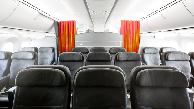 Business class seats on the Jetstar 787 Dreamliner.