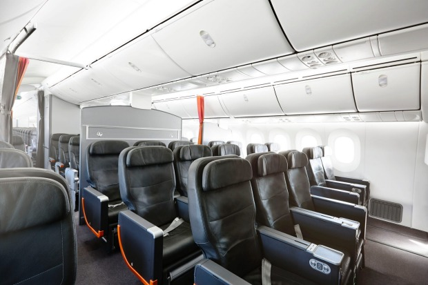 <b>ON BOARD THE BUDGET AIRLINES</b> Jetstar 787 Dreamliner business class.