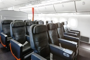 Jetstar business class cabin on the 787 Dreamliner.