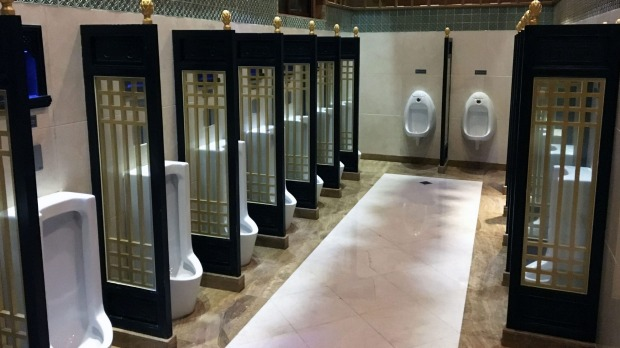Toilets at Gubei Water Town, a resort on the outskirts of Beijing that are rated the most exemplary in the nation.