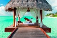Anantara Dhigu Resort & Spa, Maldives: Massage with a sea view.