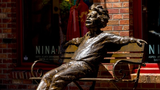 This statue of Albert Einstein sits at one of the main intersections in Vail as part of the town's public art collection.