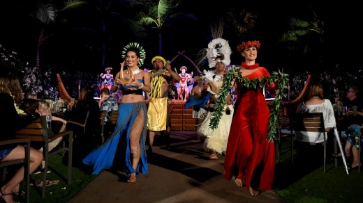 Aulani Luau celebrates voyaging culture with live storytelling, music and traditional Hawaiian dance.