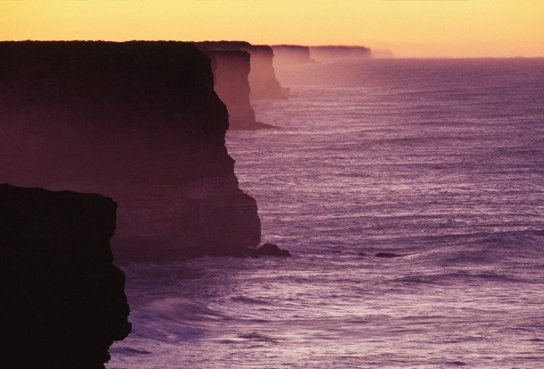 Bunda cliffs at sunrise.