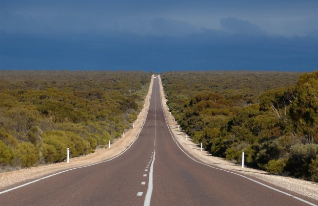 The highway across the Nullarbor Plain features Australia's longest section of straight road, at 146 kilometres.