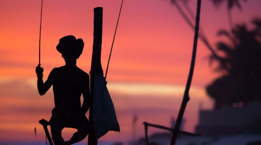 Sri Lanka's stilt fisherman.