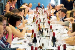 Long lunch ... a cellar feast at the Adelaide Hills Crush Festival in 2017.
