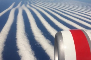 The cloud formation photographed from a Perth-Adelaide flight.