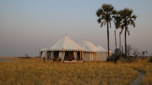 San Camp in Botswana.