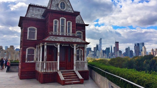 Cornelia Parker Transitional Object (PsychoBarn) a prop house installed on the roof of the Met museum.