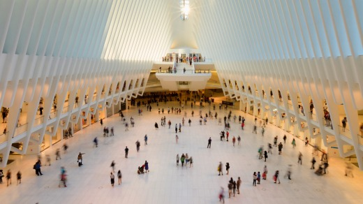 Oculus transportation hub replaced the PATH train station that was destroyed during the 9/11 terrorist attacks.