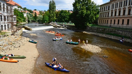 Take out a canoe on the Vltava River and see the town from a different perspective.