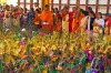 Taken at a Swamy Temple in Harippad, Southern India, during the annual Thaipooyam Festival. Devotees prepare to collect ...