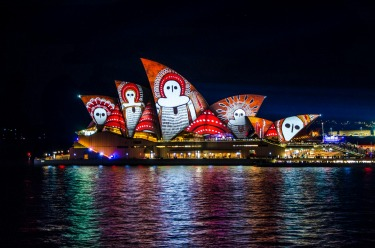 This was my first time visiting Sydney at the time of the Vivid festival and seeing the sails of the Opera House painted ...