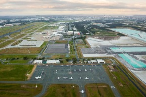 New parallel runway at Brisbane Airport.