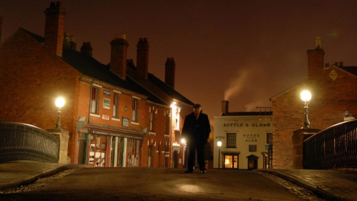 The Black Country Museum by night.