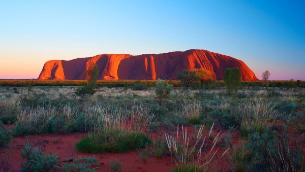 Uluru, the rock considered a 'church' by the Anangu people.