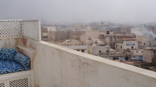 Essaouira, Africa's Wind City, from Atlantic Morocco's roof terrace.