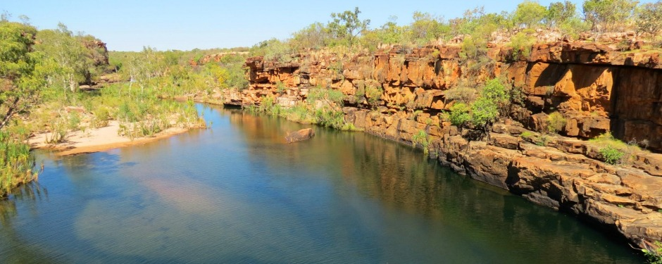 Wunnamurra Gorge is one of half-a-dozen swimming holes on Mt Elizabeth Station.