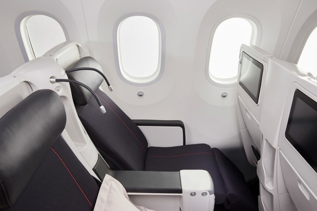Premium economy on board the new Air France Boeing Dreamliner 787.