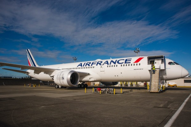 The Air France 787 Dreamliner.