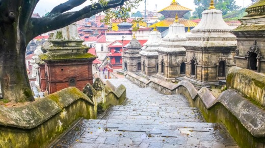 The way to one of the biggest Hindu Temple of the World, Pashupatinath Kathamandu, Nepal.