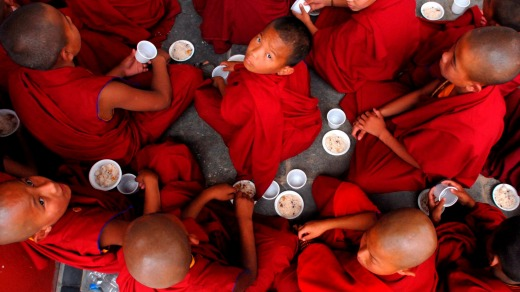 Tibetan child monks.