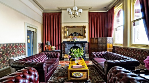 The impressive boutique-style Old Bank Hotel in Mittagong.