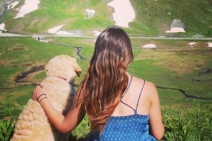 Best travel buddy: Marina Piro quit her job to travel with her dog Odie.