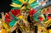 "Florian?polis, Brazil - March 02, 2014: A close-up of a member from a local samba school called ""Uniao Da Ilha Da Magia ..."